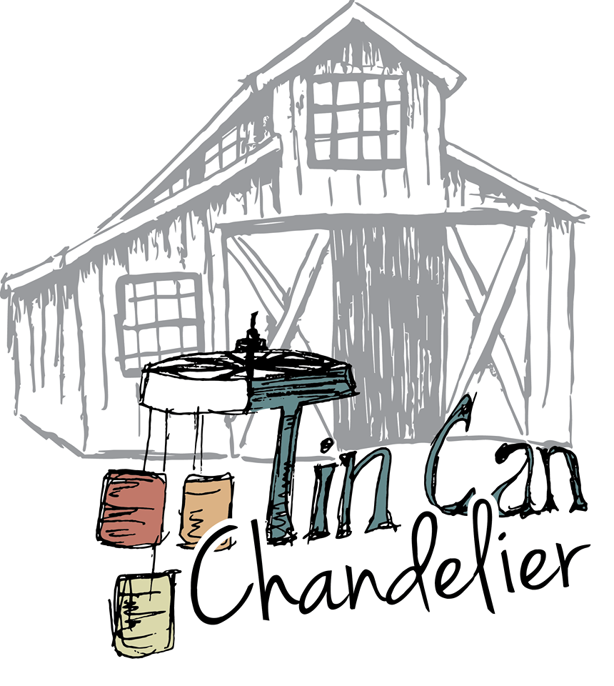 Tin Can Chandelier